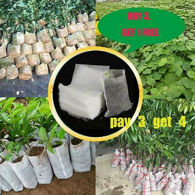 Biodegradable Non-Woven Nursery Bags Plant Pouch Grow Seedling Pots