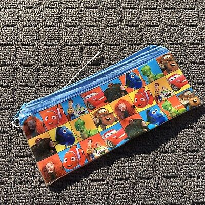 """DISNEY CHARACTERS """"Blue"""" Awesome Children's Pencil Case Stationery Bag Pouch"""