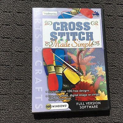 CROSS STITCH MADE SIMPLE Creative Embroidery PC Program Computer Software (2002)