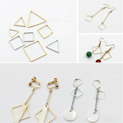 10PC Gold plated Metal Beads Geometric Pendant Charms Earrings Findings 18 style