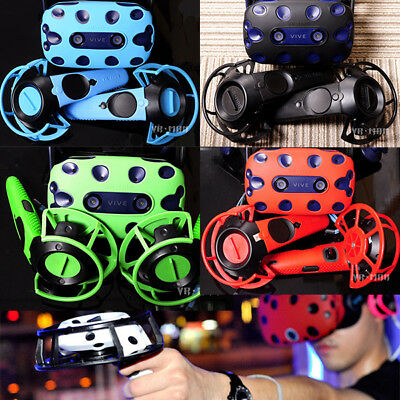1 Set VR Controller Helmet Case Glasses Silicone Cover Shell For Htc Vive Pro