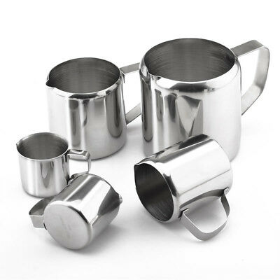 Durable Spout Pitcher Cup Milk Jug Cream Frothing Coffee Latte Stainless Steel