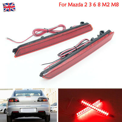 2X Car LED Tail General Rear Bumper Lamp Fit For Mazda 2 3 5 8 Mazda6 zoom-zoom