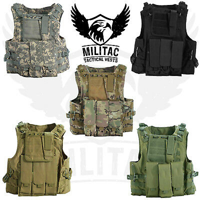 Táctico Chaleco. Airsoft /Paintball Chaleco/ Molle Combat Chaleco Asalto + Mag