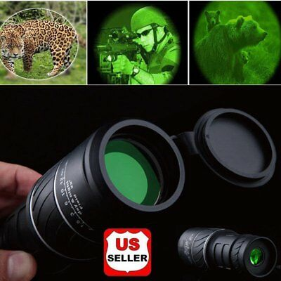 Day&Night Vision 40X60 HD Optical Monocular Hunting Camping Hiking Telescope  GH