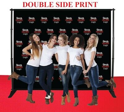 10'X8' Step&Repeat Adjustable Banner Stand Doubleside Fabric Telescopic Backdrop