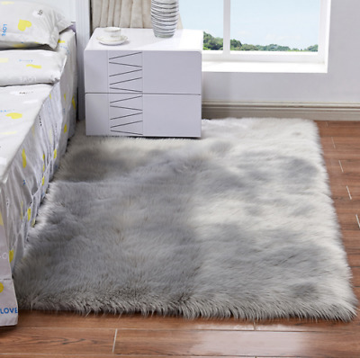 FLAUSCHIGE TEPPICHE SHAGGY Area Teppichboden Matte Faux Wolle Home ...