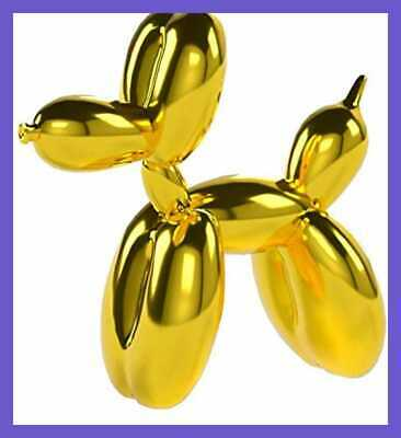 Balloon Dog Mini GOLD Animal Figurine Art Sculpture HOME DECOR