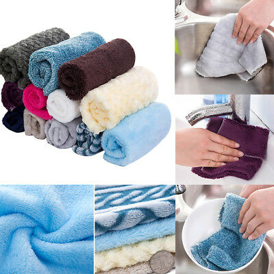 Anti Grease Dish Cloth Scouring Pad Cleaning Cloth Washing Towel Wiping Rags