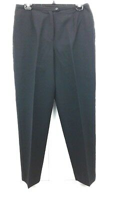 Requirements Women's Lined Dress Pants Sz 10P 100% Wool Front Zip and Button