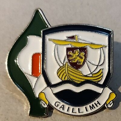Irish County Easter Lily Pin Badge Irish GAA Republican 1916 Galway crest