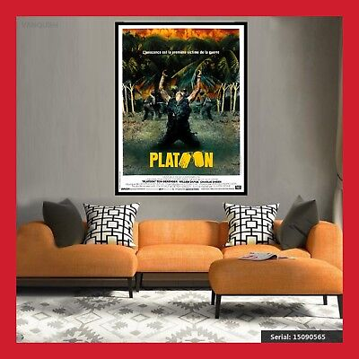 TOILE AFFICHE FR CINEMA MOVIE SORTIE FILM POSTER PHOTO PLATOON DVD 40x60 60x80cm