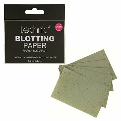 Technic Blotting Paper Oil Absorbing Shine Control Sheets Green Tea