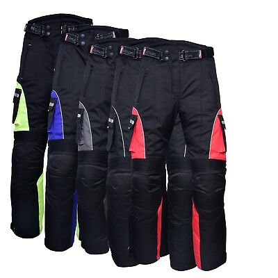 Motorbike Motorcycle Waterproof Cordura Textile Trousers Pants Armours Reflector