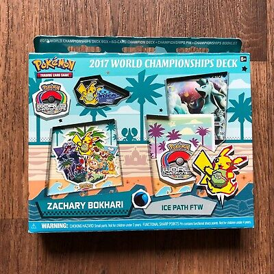 Pokémon WORLD CHAMPIONSHIP 2017 DECK ICE PATH FTW Zachary Bokhari NEU OVP