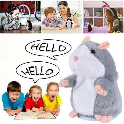 UK Talking Hamster Mouse Records Speech Nod Mimicry Plush Toy Kids Best Gift