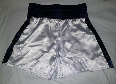 Childrens size boxing shorts. Kids boxing trunks martial arts mma combat white