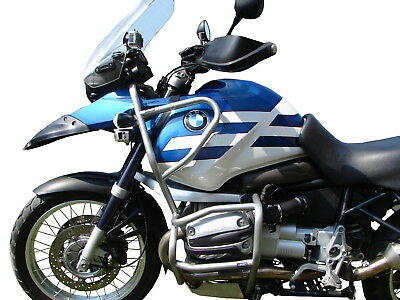 CRASH BARS HEED BMW R 1150 GS (1999-2004) Full Bunker - silver + Bags