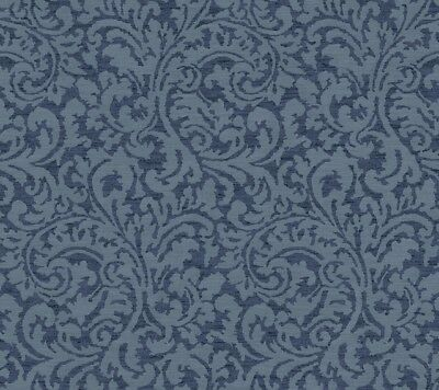 York Wallcoverings GC8728 Global Chic Namaste Scroll Wallpaper dark blue, medium