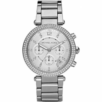 New Michael Kors MK5353 Chronograph Parker Silver Bracelet Watch Women's Watch