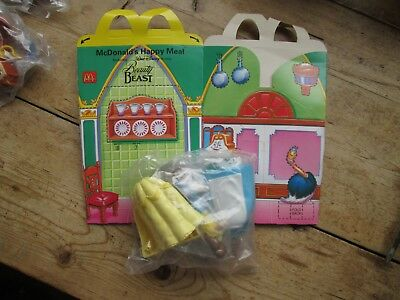 Mcdonalds Happy Meal Beauty And The Beast 1992 Toy And Box Belle