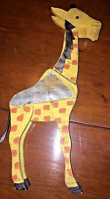 Antique Vintage Hand Carved and Painted Giraffe Folk Art NO RESERVE