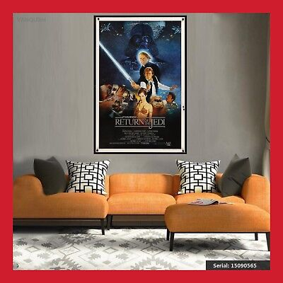 Toile Affiche Us Cinema Movie Sortie Film Poster Star Wars Le Retour Du Jedi Dvd