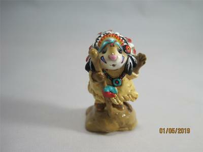 Wee Forest Folk M-107a Chief Geronimouse - Retired - Indian WFF