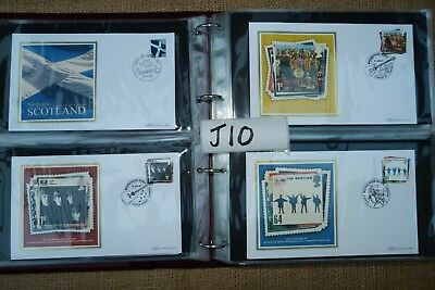 GB Benham Silk 2006/7 Collection of 92 FDC's inc High Value Harry Potter Beatles