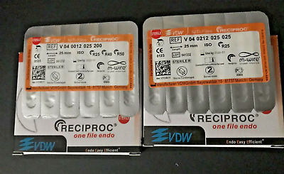 VDW RECIPROC  Sterille File Endo M-WIRE 25mm Assorted Lot 6pcs Lot 15 Packs