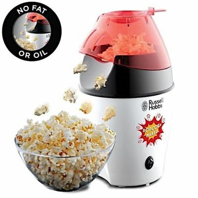 Russell Hobbs Electric Hot Air Popcorn Pop Corn Maker No Oil 1200w 12Cup 24630