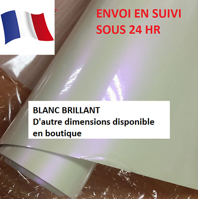 Film vinyle blanc brillantt thermoformable152 x 50 film/covering