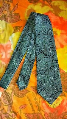 Vintage Retro Paisley Wide Tie, Mods, Hipster, made by St Michael.