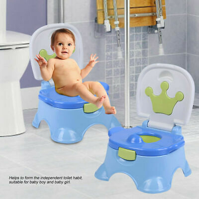 3 in 1 Toddler Potty Training Seat Baby Kids Fun Toilet Trainer Chair Easy Clean