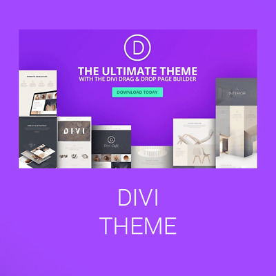 Divi Theme | Divi Builder installed for WordPress LifeTime Updates!