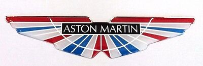 Aston Martin Wings Sticker/Decal -Red, White & Blue HIGH GLOSS DOMED GEL FINISH