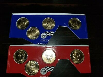 2010 P & D Presidential Dollar 8 Coin Set Lot Sealed Uncirculated Mint Cello