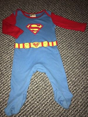 T200 Baby Boy Clothes Superman One Piece Costume Sleepsuit MOTHERCARE 3-6 MONTHS