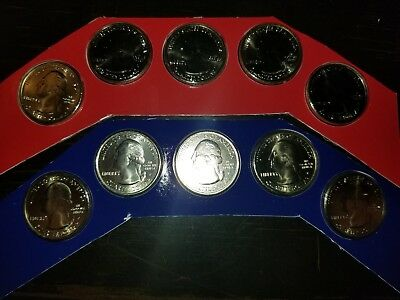 2011 P and D America the Beautiful Quarters 10 BU Coins US Mint Cellos ATB PARKS