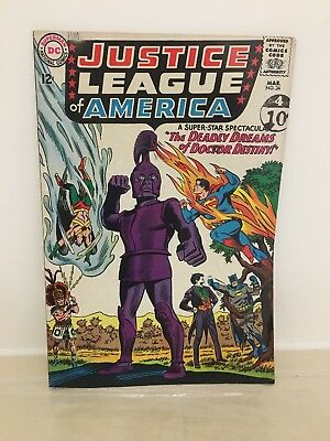 Justice League Of America No 34 March 1965 DC Comic With  Joker On Front Cover