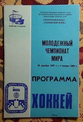 The program of the world Championship on hockey among youth teams, Moscow-1987