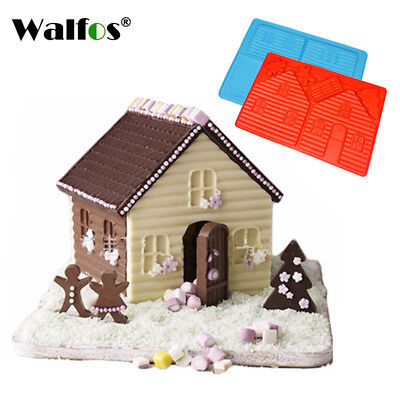 2PCS Silicone 3D Chocolate House Mold Decorating Lovely Couple Cookie Cake