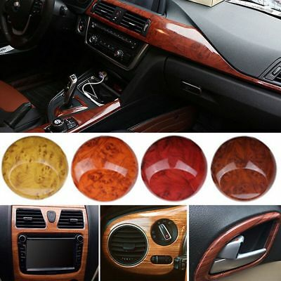 Auto Interior Decal Roll High Glossy Wood Grain Film Wrap Car Vinyl Sticker