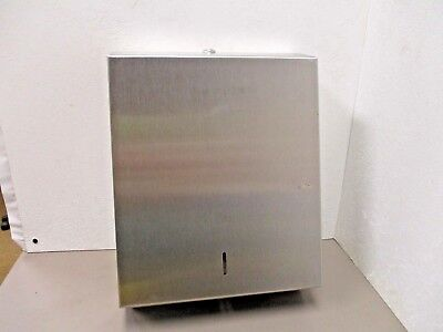 """STAINLESS STEEL SATIN TYPE SURFACE MOUNT PAPER TOWEL DISPENSER 14.5"""" x 11"""" x 4"""""""