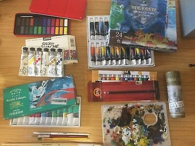 Art Media Collections Acrylic Gouache Watercolor Oil Charcoal Fine Art Brushes