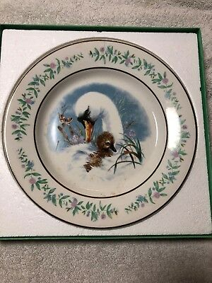 """AVON Gentle Moments 9"""" Collector Plate 1975  in Box VERY NICE England"""