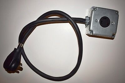 14-30P Plug To L6-30R Outlet Receptacle -  240 Volts, 4F, 4 Prong Dryer