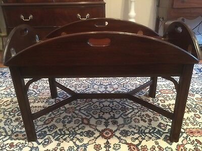 HENKEL HARRIS Solid Mahogany Chippendale Butler's Coffee Table  #5212