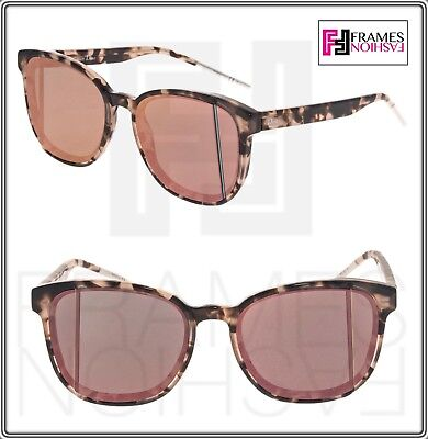 CHRISTIAN DIOR STEP Violet Pink Havana Rose Mirrored Sunglasses Abstract  Unisex 3633a7742b0f