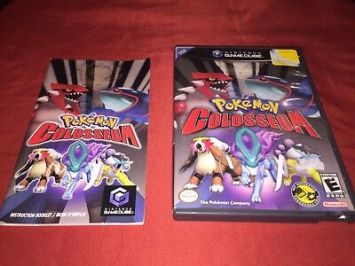 Pokemon Colosseum Gamecube Case And Manual Replacement Only NO GAME